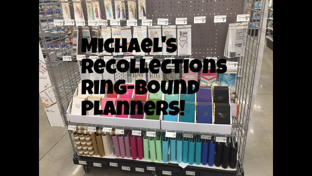 Michael 39 s craft store recollection planner ring bound for Michaels craft store watches