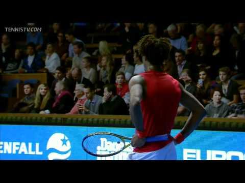 Milos Raonic vs. Gael Monfils Stockholm Open 2011