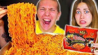 EXTREMELY SPICY NOODLES ! TRY JAPANESE FOOD CHALLENGE