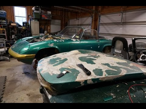 Lotus Elan PT4, How To Strip Paint On A Fiberglass Car