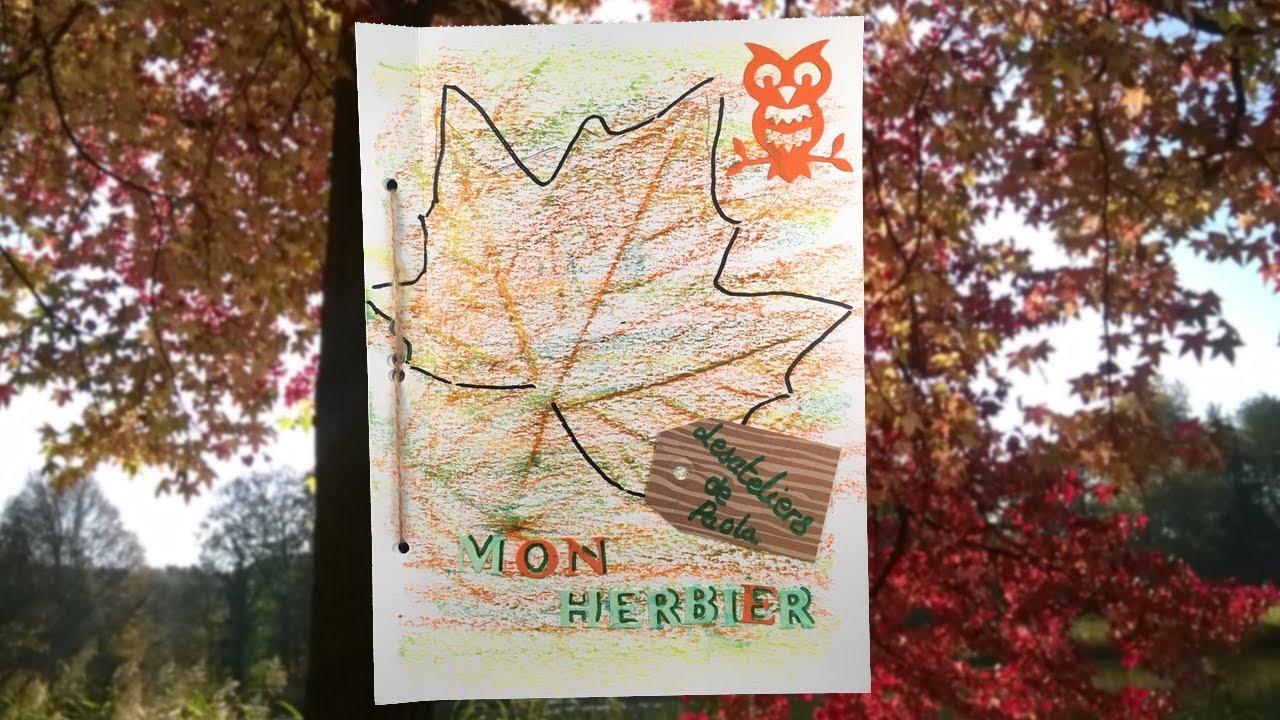 herbier] mon cahier de l'automne - youtube