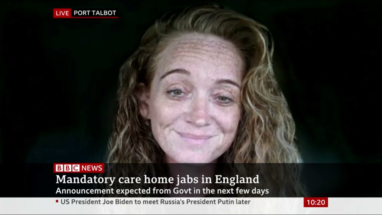 GMB's Kelly Andrews on mandatory vaccinations for care staff | BBC News