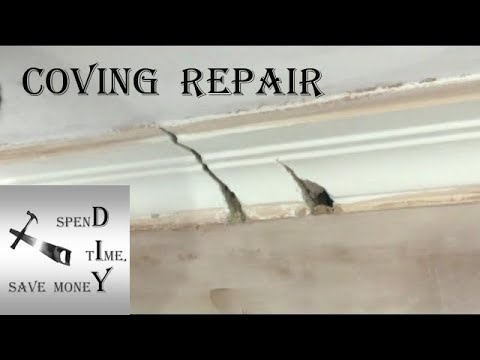 How To Repair Plaster Coving, Cornice Quick, Simple And Cheaply. The Complete DIY Guide