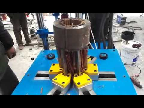 Scrapping industrial electric motor stator wrecker cutting for Electric motor recycling machine