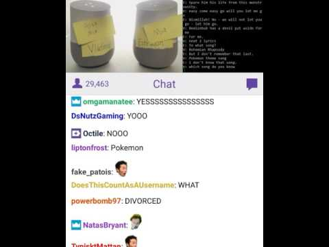TWO Google home arguing with each other on TWITCH!