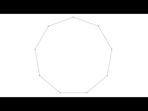 Drawing Of An Approximated Nonagon Inscribed In A Circle Youtube