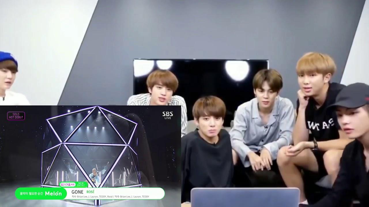 Download BTS reaction to ROSÉ - 'GONE'  0314 SBS Inkigayo
