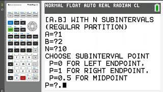 AP® Calculus Riemann Sums on the TI-84 Plus CE