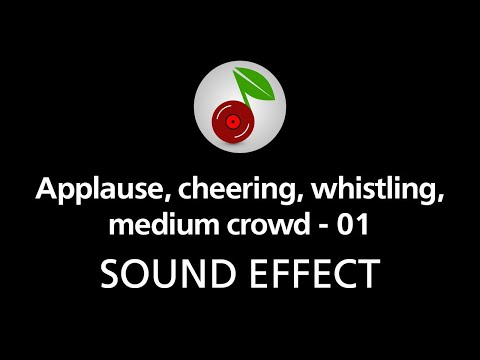 Applause, cheering, whistling, medium crowd - 01, sound effect