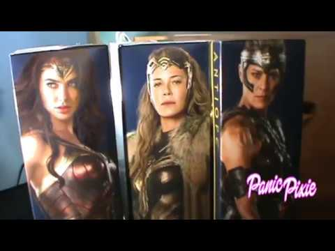 Wonder Woman, Antiope & Hippolyta Barbie doll review deboxing