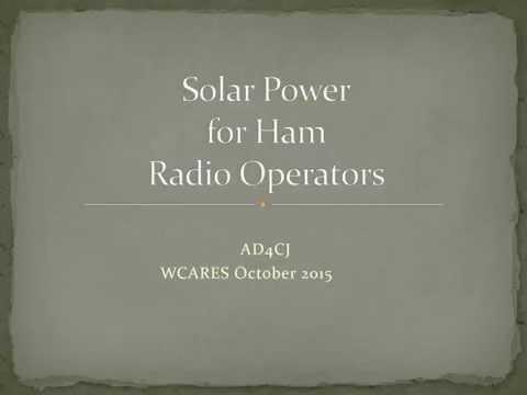 Solar Power for Hams