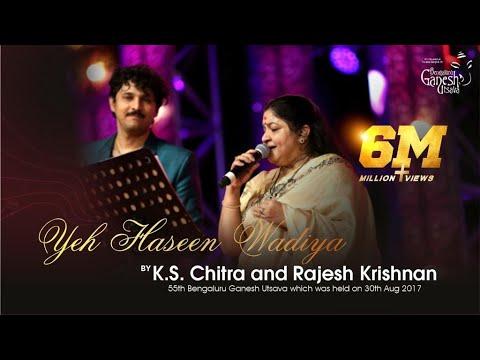 """Yeh Haseen Wadiya"" by K.S. Chitra and Rajesh Krishnan at 55th Bengaluru Ganesh Utsava"