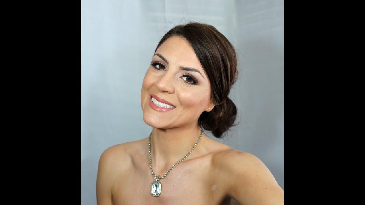 Matte Bridal Makeup- Brunette Beauty Blogger - YouTube