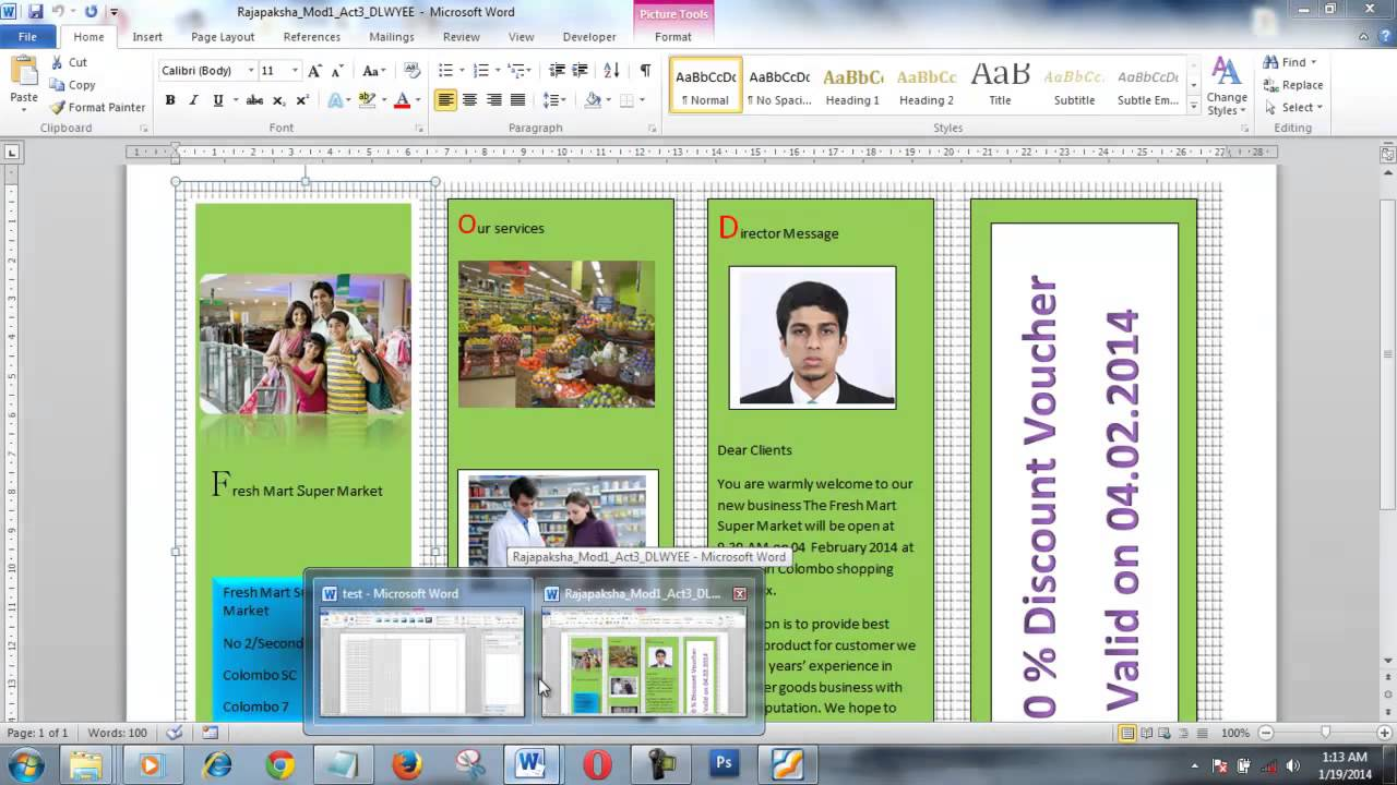 making a brochure in word