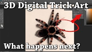 3D Digital Drawing Trick Art PLUS Huion Tablet Unboxing and Review!