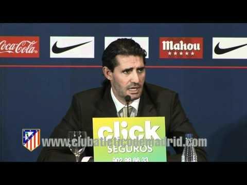 Rueda de prensa de José Luis Pérez Caminero . Inicio de temporada 11/12 del Atlético de Madrid