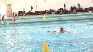 Girl Power: Madison Norquist is beast - pressing her opponent hard in Water Polo