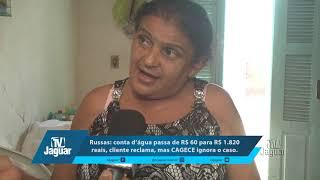 Russas: conta d'água passa de R$ 60 para R$ 1 820 reais, cliente reclama, mas CAGECE ignora o caso.