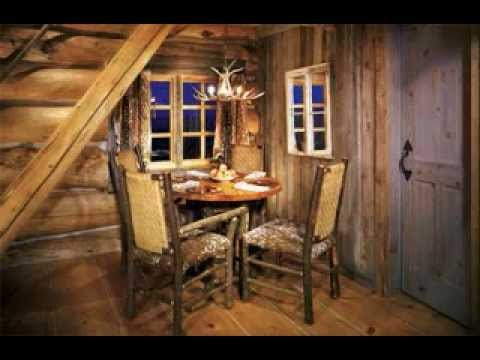 Rustic cabin decorating ideas - YouTube