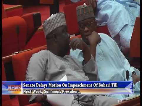 Senate Delays Motion On Impeachment Of Buhari Till Next Week, Summons President