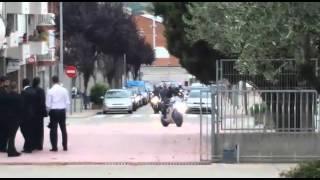 Llegada a la iglesia en moto ,Boda Motera!!