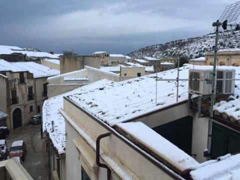 scicli in neve Capodanno