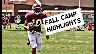 Alabama Football Fall Camp Highlights - Watch linebackers and defensive backs