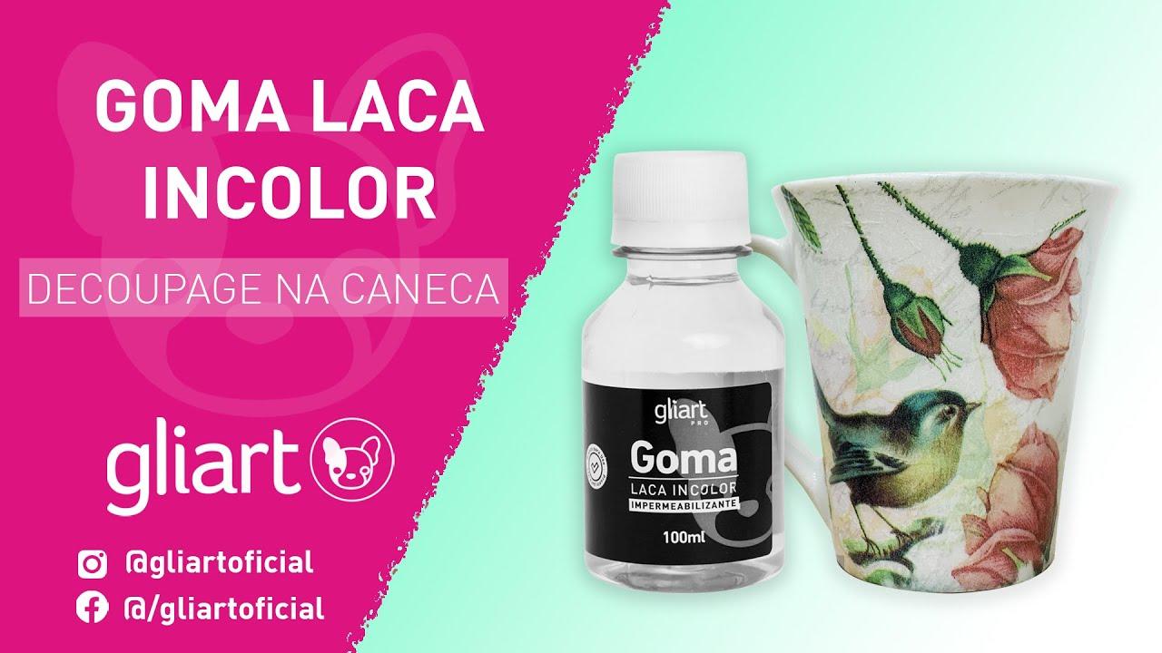 DIY - Decoupage na Caneca com Goma Laca Incolor