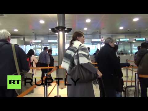 France: Passport controls at Charles de Gaulle airport as red alert continues
