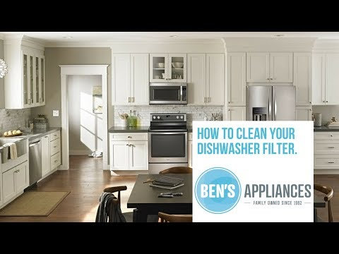 How To Clean Your Dishwasher Filter (Whirlpool, Kitchenaid, Jennair)