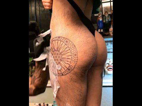 Getting Mandala Hip Tattoo