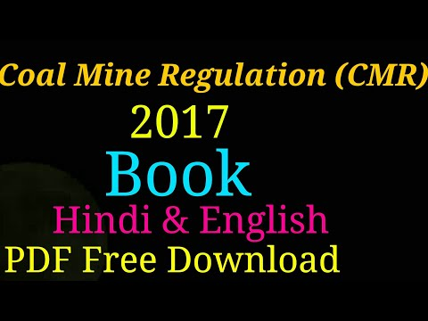 Coal Mine Regulation(CMR) 2017 Book PDF Free Download Hindi/English