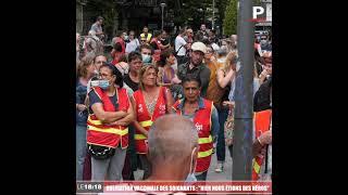 """Manifestation contre l'obligation vaccinale des soignants à Marseille : """"Hier nous étions des héros"""""""