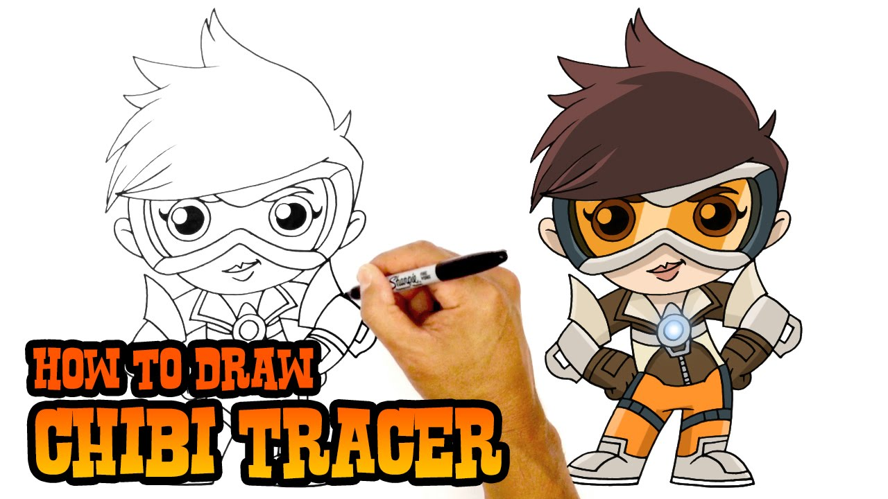 How To Draw Tracer Overwatch Youtube