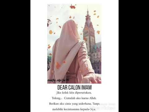 Literasi 30 Detik Dear Calon Imam Youtube