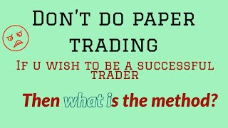 How to practice intraday trading - Tamil Techtrader