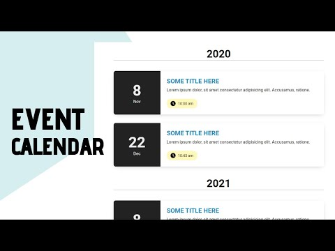 How To Design An Event Calendar For Your Website