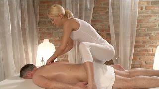 Hot Oil Massage Tutorial - Back Massage with blonde masseuse