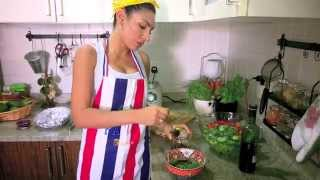 Eat Healthy With Monica / Lime Marinated Broiled Salmon With Green Salad And Boiled Potato