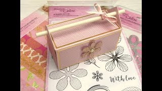 Gable Style Gift Box with Straw Handle