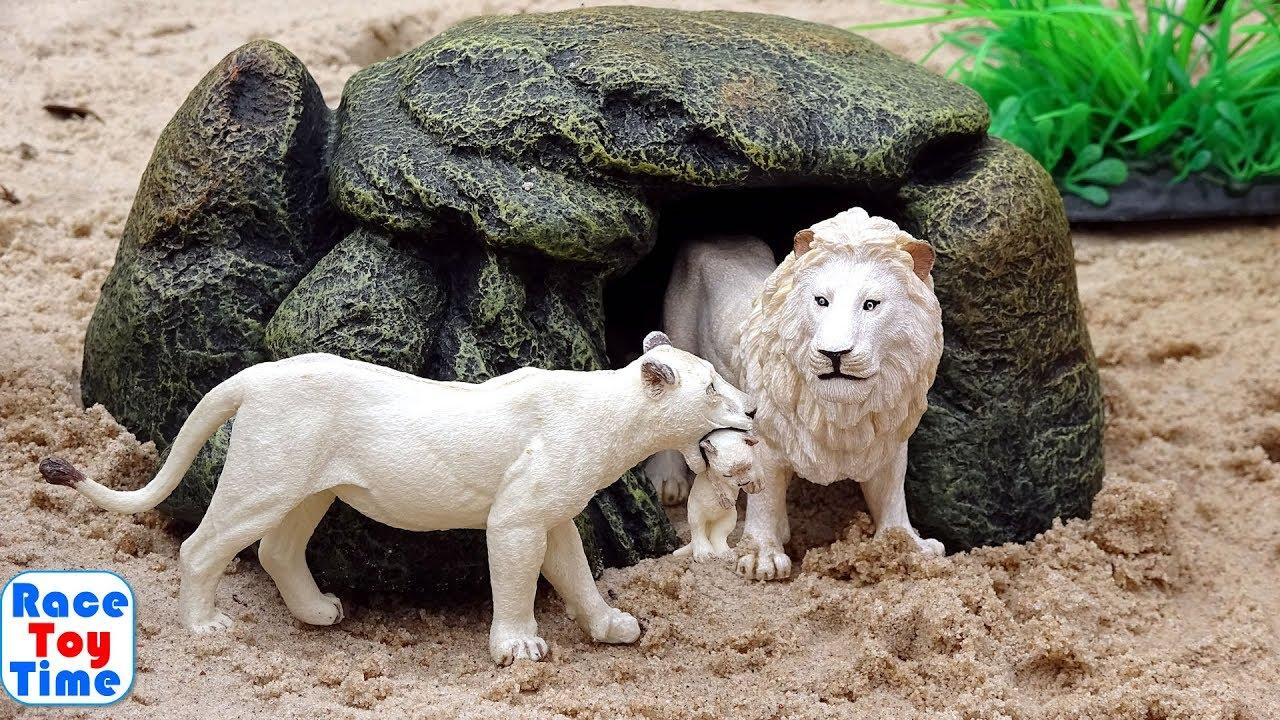 Toy Wild Animals in the Safari Sandbox - Learn Animal Names Video