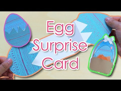 [Tutorial + Template] *Free* Happy Easter Egg Surprise Card Making
