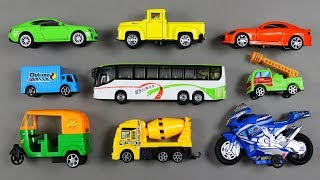 Lots of Toy Vehicles Collection and learning name with Number Counting video for Children