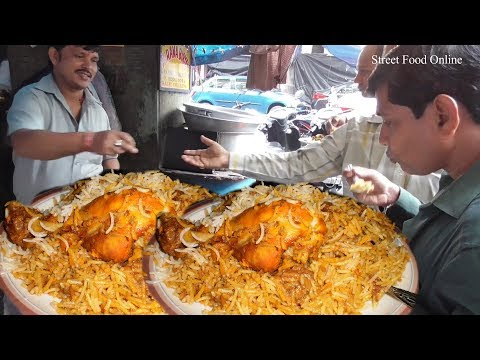 Chicken Biryani 70 Rs Per Plate & Mutton Biryani 90 Rs Per Plate Selling at Kolkata Street Food