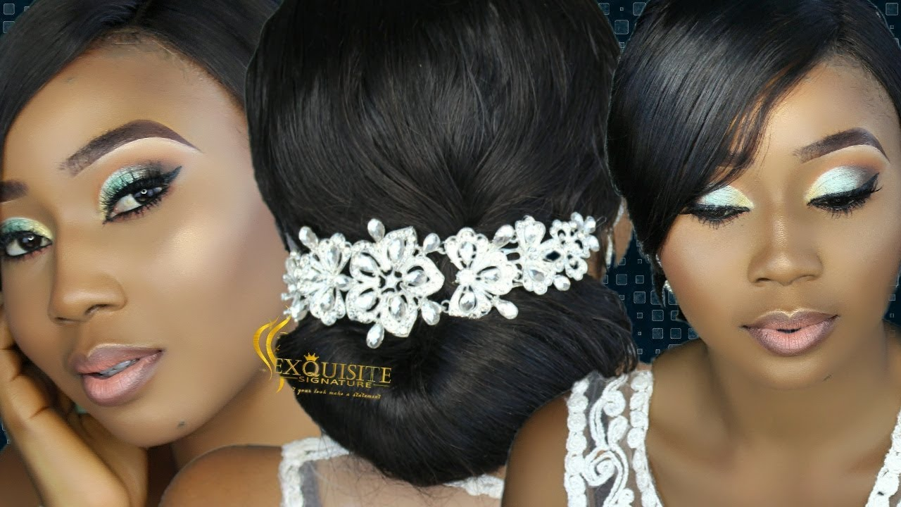 How To Bridal Hair Updo And Makeup 3 Nigeria Wedding Makeup Youtube