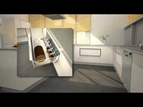 Herrajes Extraibles Lnea Plus para Muebles de Cocina