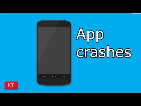 Apps keeps crashing in android - YouTube