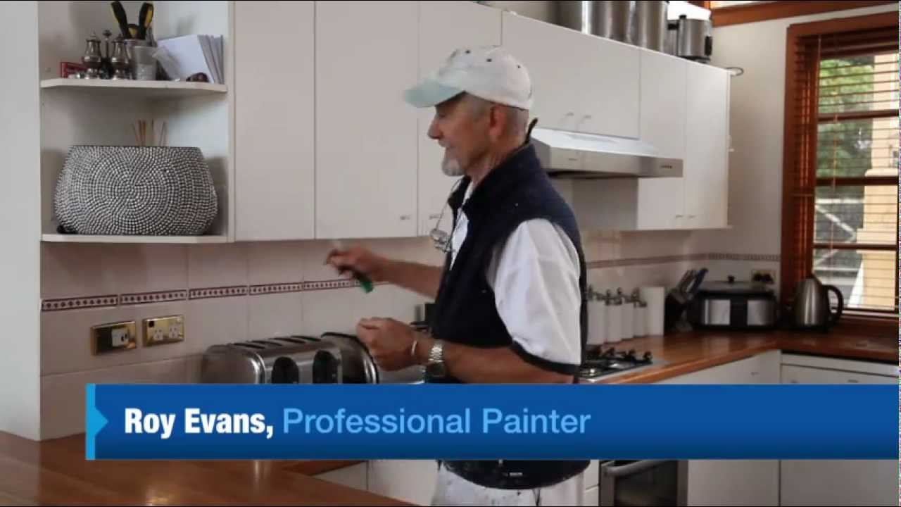 White Kitchen Cupboard Paint How To Paint Laminate Cupboards Youtube