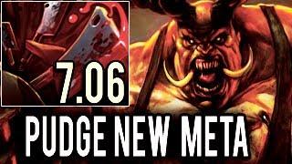 Dendi New Meta Pudge with 40 LH & 27 Kills Only Kills Game 99% Successful hooks 7.06 Dota 2