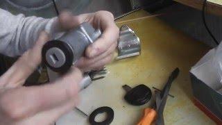 Как вытащить личинку замка со сломанным ключом внутри Opel Vectra А